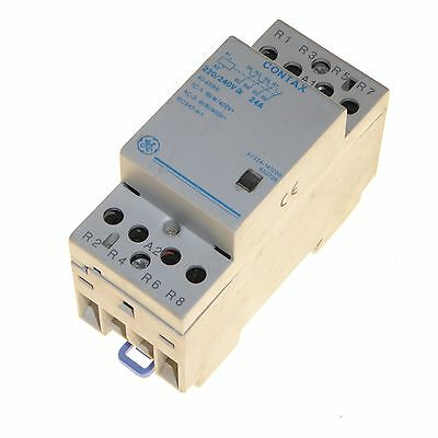 24 amp 4 pole contactor 220 / 240V coil normally closed 16kW GE Contax 24A