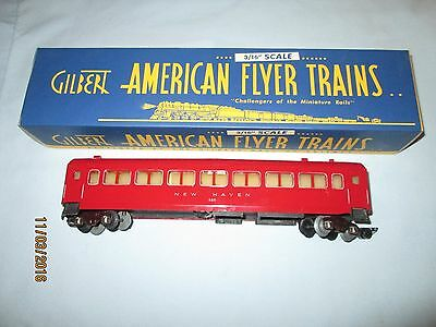 American Flyer #650 Red New Haven Passenger Car w/Repo Box. Very Good Condition.
