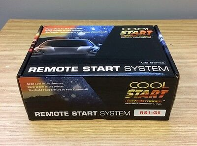 Crimestopper Cool Start RS1G5 One Button 1-Way Paging Remote Start System NEW
