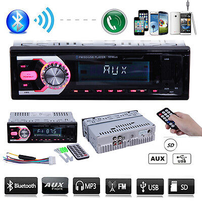 Car In Dash MP3 Player USB/SD Stereo Audio Receiver Bluetooth FM Radio AUX Input