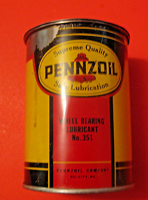 VINTAGE PENNZOIL WHEEL BEARING LUBRICANT No. 351 GREASE ADVERTISING OIL CAN