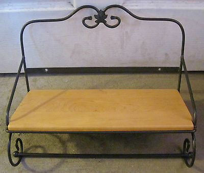 Longaberger Wrought Iron Utility Shelf - Wood Shelf Included!