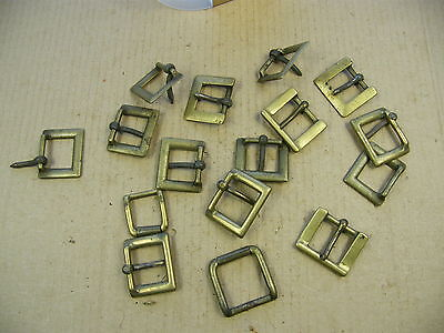 "Vintage Brass & Steel Buckles, for crafts & Leatherwork, job lot... lot ""J"".."