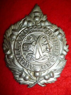 The Argyll & Sutherland Highlanders Solid Pattern Cap Badge - Scottish