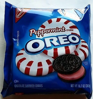 NEW Nabisco Peppermint Oreo Flavored Creme Cookies FREE WORLDWIDE SHIPPING