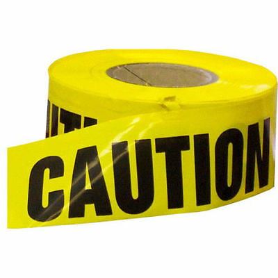 """1 Roll- Yellow Barrier Caution Tape 1.5 MIL 3""""X1000 Ft."""
