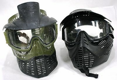 (Lot of 2) JT Paintball Masks with Goggles & Visors - Velcro - Black / Green