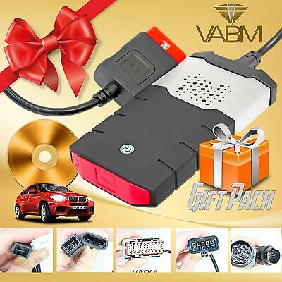 2014 R2 Car Truck Diagnostic Obd Scanner Software With 8 Car Adapters Gift Set