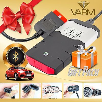 Bluetooth 2014 R2 Car Truck Diagnostic Obd Scanner With 8 Car Adapters Gift Set