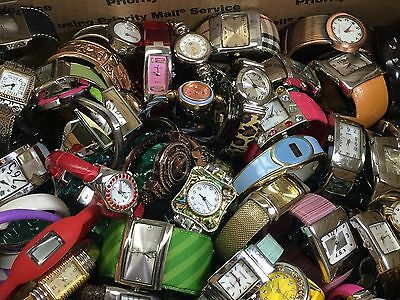 120 Women's Bangle Watches Mix Lot For Battery/Repair/Parts Used Cond. (#GL138)