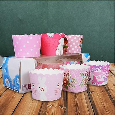 50pcs Cake Baking Paper Cup Cupcake Liners Muffin Case Home Christmas Party 3v
