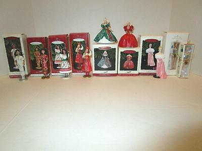 PRE-OWNED Lot of 8 BARBIE HALLMARK KEEPSAKE ORNAMENTS Lot with Boxes