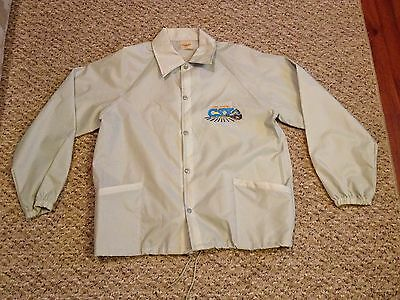 Tampa Terminal Award Winner Csx Train Railroad Jacket Size Large Nylon