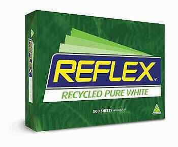 Reflex Copy Paper A4 Pure White 50% Recycled 500 Sheets per Ream, 5 Reams/Carton