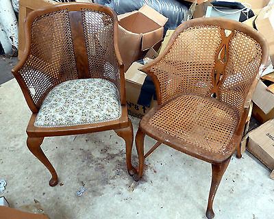 Early 20th Century Bergere Armchair Cane Chair - £75.00  - used