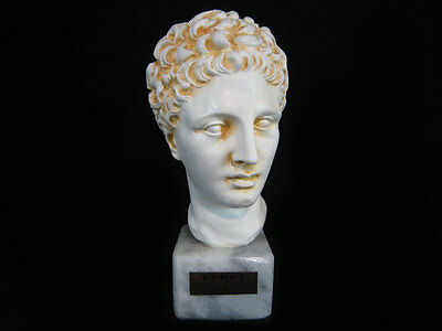 AMAZING GREEK VINTAGE ARTISTIC MADE BUST OF HERMES of PRAXITELES!!!