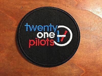 """TWENTY ONE PILOTS TOP Nº1 - Logo Patch - Embroidered Iron On Patch 3 """""""