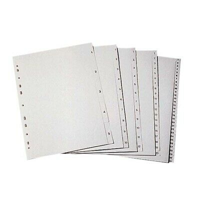 3 x Divider A4 Pvc 1-10 Tab Numbered White Each Set