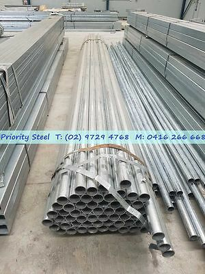 Galvanized Round Post 6m length