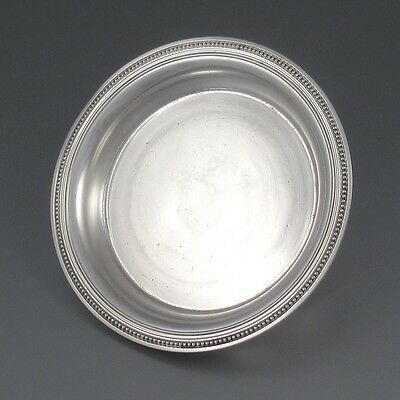 """Antique French Christofle Silver Plate Carafe Tray, Coasters, """"Perles"""", Numbered"""