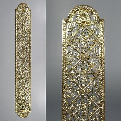 Antique French Gilded Bronze Door Back Plate, 19 ¾ inches, Chateau Style