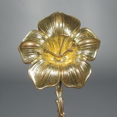 Rare Antique French Gilded Bronze Tieback, Lilies