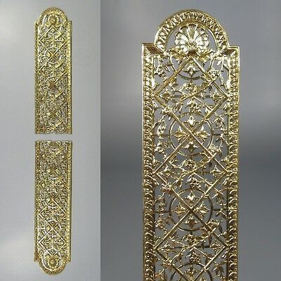 Antique French Gilded Bronze Door Back Plate, Chateau Style