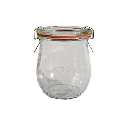 12x Mini Glass Serving Jar, 220ml, Tulip, Weck, With Clips & Seel, Dessert