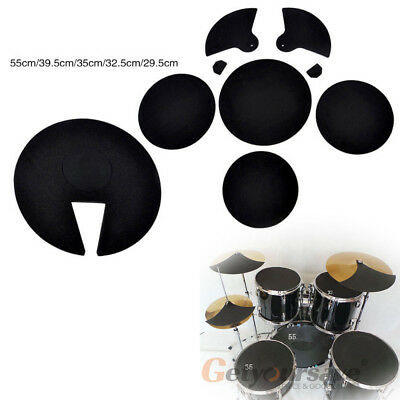 10 X Bass Snare Drums Sound off/ Quiet Mute Silencer Drumming Practice Pad Rock