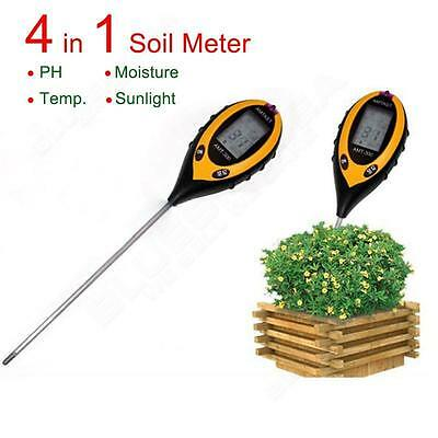 Digital 4in1 pH Meter Soil Plant Moisture Lux Thermometer Light Measure Humidit