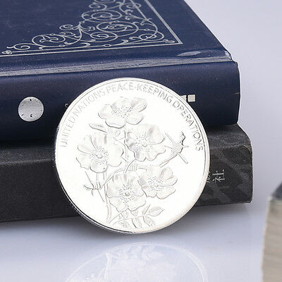 The United Nations Commemorative Coin Flowers Silver Commemorative Coins Gift