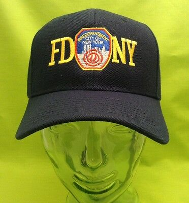 NEW Embroidered FDNY 9/11 Memorial New York Fire Black Hat Cap
