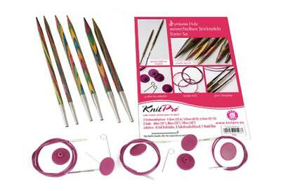 KnitPro Starter Set Ebony Wood replaceable Circular knitting needles in the Set