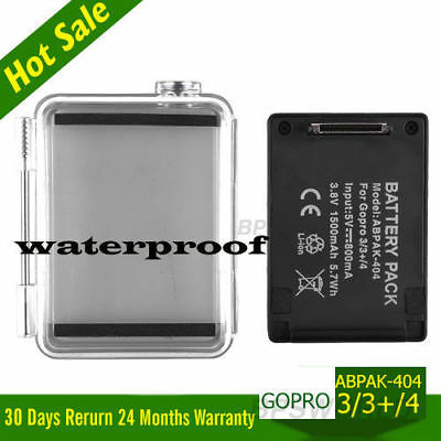 Battery USB Charger For GoPro AHDBT-401/301 Hero +/4/3 Extended Bacpac + Case