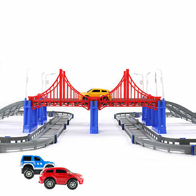 Xmas Gift Kids Toy Battery Operated Railway Construction Truck & Train Play Set