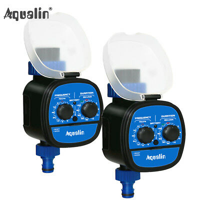 2pcs Automatic Water Tap Timer Garden Irrigation System Delay Function