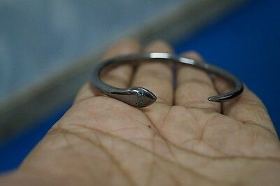 Royal Victorian Style Style Silver Emerald Snake Gift Engagement Bangle