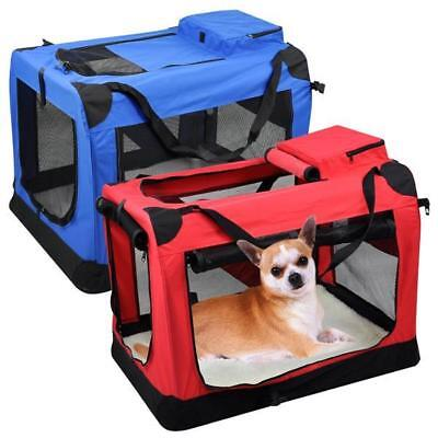 Pet Carrier Portable Cat House Soft Sided Comfort Travel Tote Bag Crate Oxford
