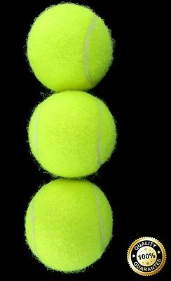 BRAND NEW Pack of 3 HQ Soft Tennis Ball Sports Indoor/Outdoor Pets Kids Gift UK