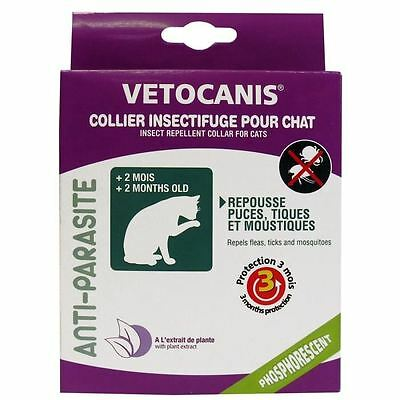 VETOCANIS Collier insectifuge phosphorescent - Pour chat