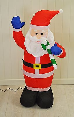 Inflatable Santa Father Christmas (120cm) with LEDs by Kingfisher Decoration
