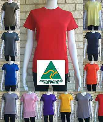 Women's Girls Blank Plain Casual 100% COTTON T-Shirts - Assorted Colours