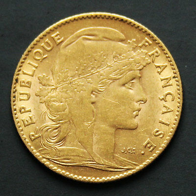 10 francs or Coq 1906 10 french franc Rooster gold coin