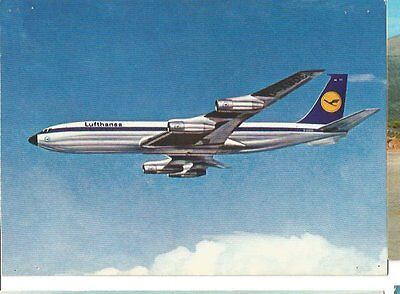 Cp Avion Boeing 707 Intercontinental Jet Lufthansa  Ecrite
