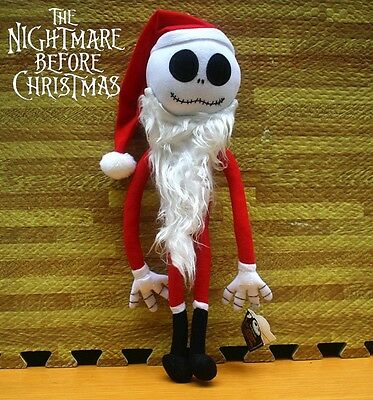 Nightmare Before Christmas Santa Claus Jack Skellington Soft Plush Doll Toy