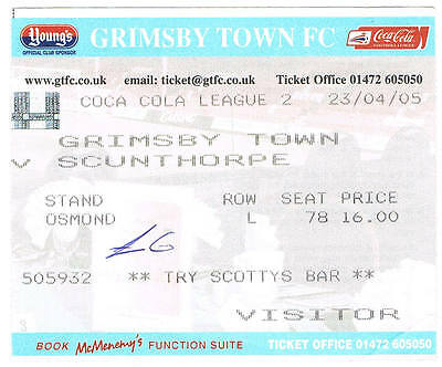 Ticket - Grimsby Town v Scunthorpe United 23.04.05