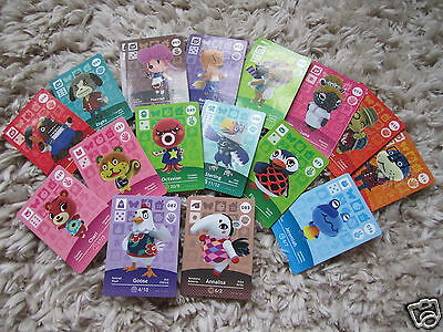 Animal Crossing Cards NEW Series 1 & 2 Happy Home Designer Amiibo DS game