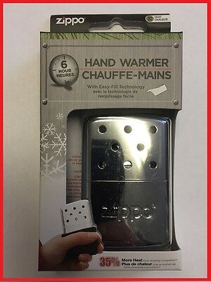 Zippo Chrome Hand Warmer 6Hr Brand New In Box **lowest Uk Seller**