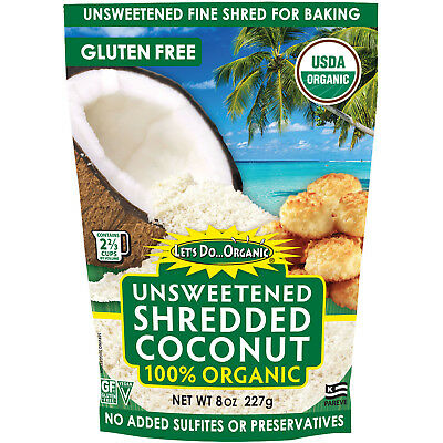 Edward & Sons, Organic Shredded Coconut, Unsweetened, 8 oz (227 g)