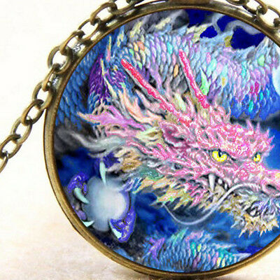 New Mystical Rainbow Dragon, Pendant Necklace, Mythical Creature, Serpent, Gift